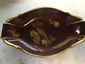 Carltonware Rouge Royale Platter Dish With Nice Design  of An Pheasant & Flowers