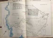 1950 MAIN LINE, DELAWARE CO. PA, NEWTOWN TWP BISHOP HOLLOW POLO CLUB, ATLAS MAP