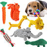 Interactive Dog Toys Pet Puppy Tug Play Chew Toy Durable Braided Cotton Rope