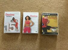 Fitness exercise DVDs Davina, KettleWorx, all perfect condition