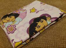 Dora the Explorer Twin Flat Sheet fabric cutter quilt craft Paisley Boots pink