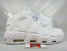 Nike Air More Uptempo 96 TRIPLE WHITE 921948-100 sz 12 SUPREME GOLD RED BLACK