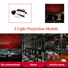 Car IPX4 Waterproof Rotate Red LED Night Roof Light Star Atmosphere lamp