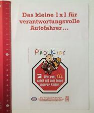 Aufkleber/Sticker: Pro7 McDonalds Esso - Pro Kids - Wer Rast Spielt (28031641)