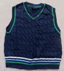 Baby Gap Navy Green V-Neck Pullover Sweater Vest Size 4 4yrs Years