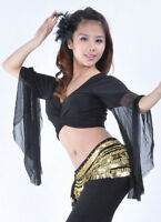 New Belly Dance costume choli Flare top Blouse 9 Colours