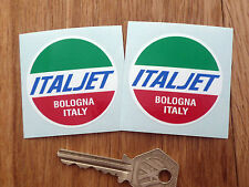 ITALJET Motorcycle Moped Scooter STICKERS 50mm Pair Grifon Classic Bologna Italy