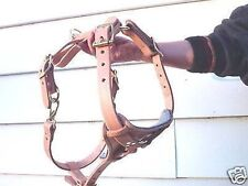 LEATHER HARNESS POLICE K9 SCHUTZHUND DOG TRAINING