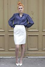 Damen Rock skirt weiß white 70´s True VINTAGE 70er women 80er elegant 80s