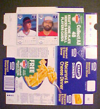 1987 Jeff Reardon~Cory Snyder NEVER~FOLDED KRAFT HOME PLATE BOXES Baseball Cards