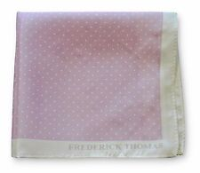 Frederick Thomas 100 Silk Lilac & Pin Spotted Pocket Square Handkerchief Ft3357