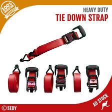 Tie Down Ratchet Strap Set - 4 Pack Heavy Duty Nylon Car Trailer Boat 39mm x 5m