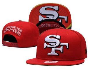 San Francisco 49ers NFL Football Embroidered Hat Snapback Adjustable Cap