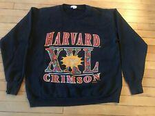 Vintage 80's 90's Harvard Athletics Crewneck Sweatshirt Large Crimson