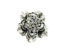 Stunning Chunky Flower Cluster Diamantes Stone Silver STaTeMenT Ring Ajustable