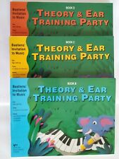 Bastiens Piano Music Theory&Ear Training Party Lessons Book B C D Lot Activities