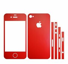 22 FA. IPHONE 4S FOLIE ROT AUFKLEBER KLEBER MATT ( BUMPER COVER SKIN SCHALE CASE
