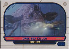STAR WARS GALACTIC FILES SERIES 1 BLUE PARALLEL #299 OPEE SEA KILLER 054/350