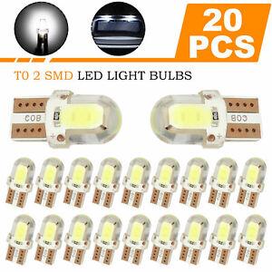 20X T10 194 168 W5W Super blue COB LED License Plate Interior Light Bulbs 6000K