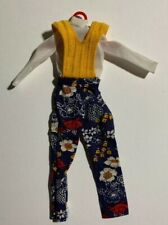 Barbie 1973 Best Buy #8685 Aktuelle Hosenmode Gold Knitted Vest Pant Outfit