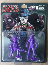 WALKING DEAD PURPLE CARL & WALKER PVC FIGURE 2-PACK SDCC 2013 SKYBOUND EXCLUSIVE