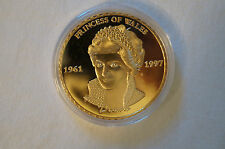 Diana - Princess of Wales - The Last Rose of England - Gold Plated Coin in Case.