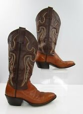 Ladies ABC Boots Brown Smooth Ostrich Leather Cowboy Western Boots Size: 6