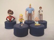 The Incredibles-Pepsi Cola caps 5 figure set-Pixar-Japan