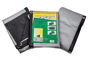 Tarpaulin Extra Heavy Duty  Waterproof Cover Tarp  270GSM Ground Sheet