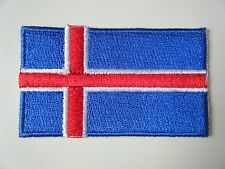 ICELAND PATCH Quality Embroidered Iron On Badge ICELANDIC National Flag NEW