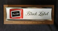CARLING BLACK LABEL BEER SIGN red white script gold wood thomas schutz