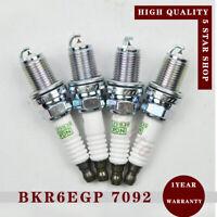Set of 4 Platinum BKR6EGP 7092 Spark Plug Fits BMW Audi Volvo Saab IX BKR6EIX-11