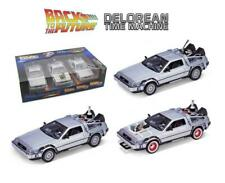 Welly 1:24 Back to the Future Trilogy DeLorean (2011) Diecast Car Set - 224003G (3 Pack)