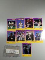 Lot of (9) Barry Bonds--Pittsburgh Pirates--1988 Diamond Baseball Cards