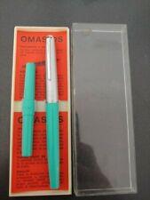 Omas DS green vintage fountain pen + box nos penna stilografica vintage