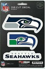Seattle Seahawks NFL Die-Cut Decal Stickers / 3 Pack *Free Shipping