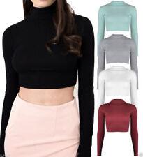 Maglie e camicie da donna body neri elasticizzati