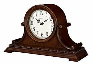 Bulova Asheville Tambour Quartz Harmonic Solid Wood Mantel Clock B1514
