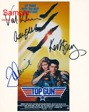 TOP GUN Tom Cruise Kilmer McGillis Edwards Signed Autographed Reprint 8x10 Photo