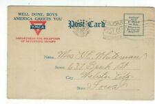 1919 WWI YMCA Safe Arrival Post Card from the SHIP Leviathan