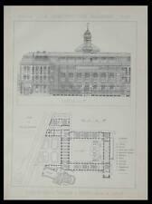 ROUEN, ECOLE NORMALE PRIMAIRE - 1891 - PLANCHE ARCHITECTURE - LUCIEN LEFORT