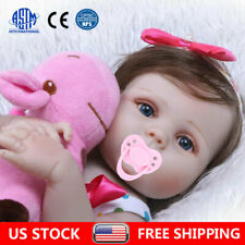 22in Reborn Baby Dolls Full Body Vinyl Silicone Girl Doll Realistic Newborn Gift