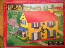 Antique/Vintage Built Rite Toy House Set No.34- Warren Paper Products Co. 1940's