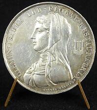 Médaille Clemen Isaura Floral Restauratrix Jeux Floraux Dubois 1819 Argent medal