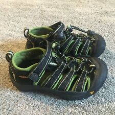 KEEN Water Sandals Size 11 Black Green Sport Shoes Boys Girls