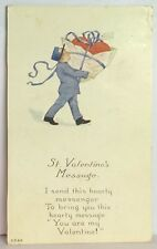 PostCard St. Valentines Message You are my. Posted Stamped 2-12-1920 Vintage