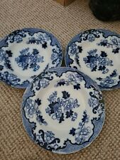 Mixed Lot 3 Large Bowl Plates 6 Dinner Plates Blue And White Porcelain...