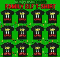 Personalised Family Elf T-Shirt, Ugly Christmas Day Gift Xmas Kids & Adults Top
