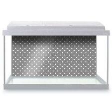 Fish Tank Background 90x45cm - Grey White Polka Dots Pattern Cute  #45252