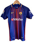 "Nike Dri Fit Barcelona Home Football Jersey 2017 10 Shirt MESSI XS 36"" Youth VGC"